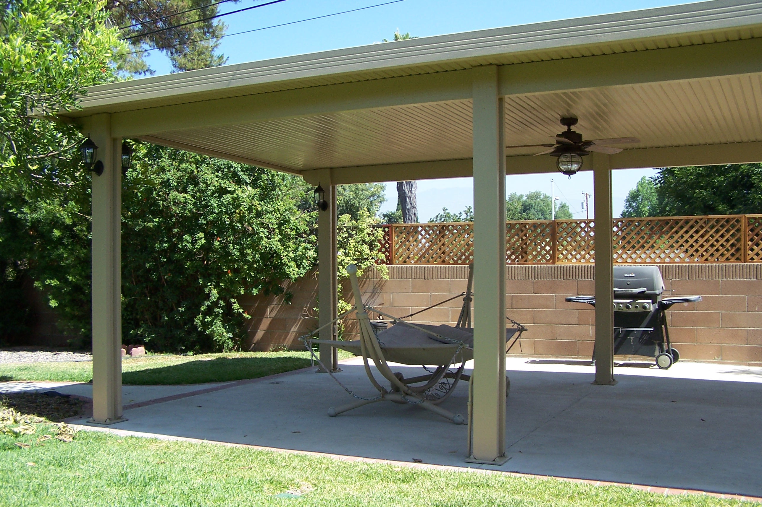 Freestanding patio covers ocean pacific patios for Build a freestanding patio cover