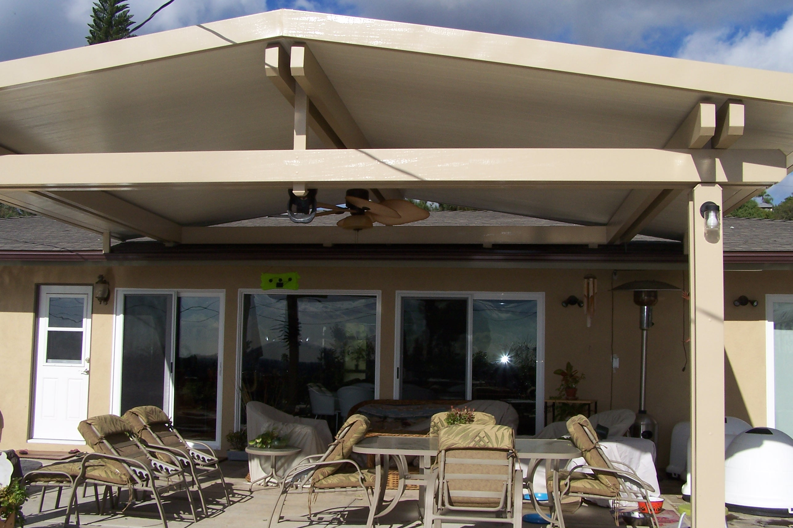 gabled/cathedral patio covers - ocean pacific patios - Gable Patio Designs