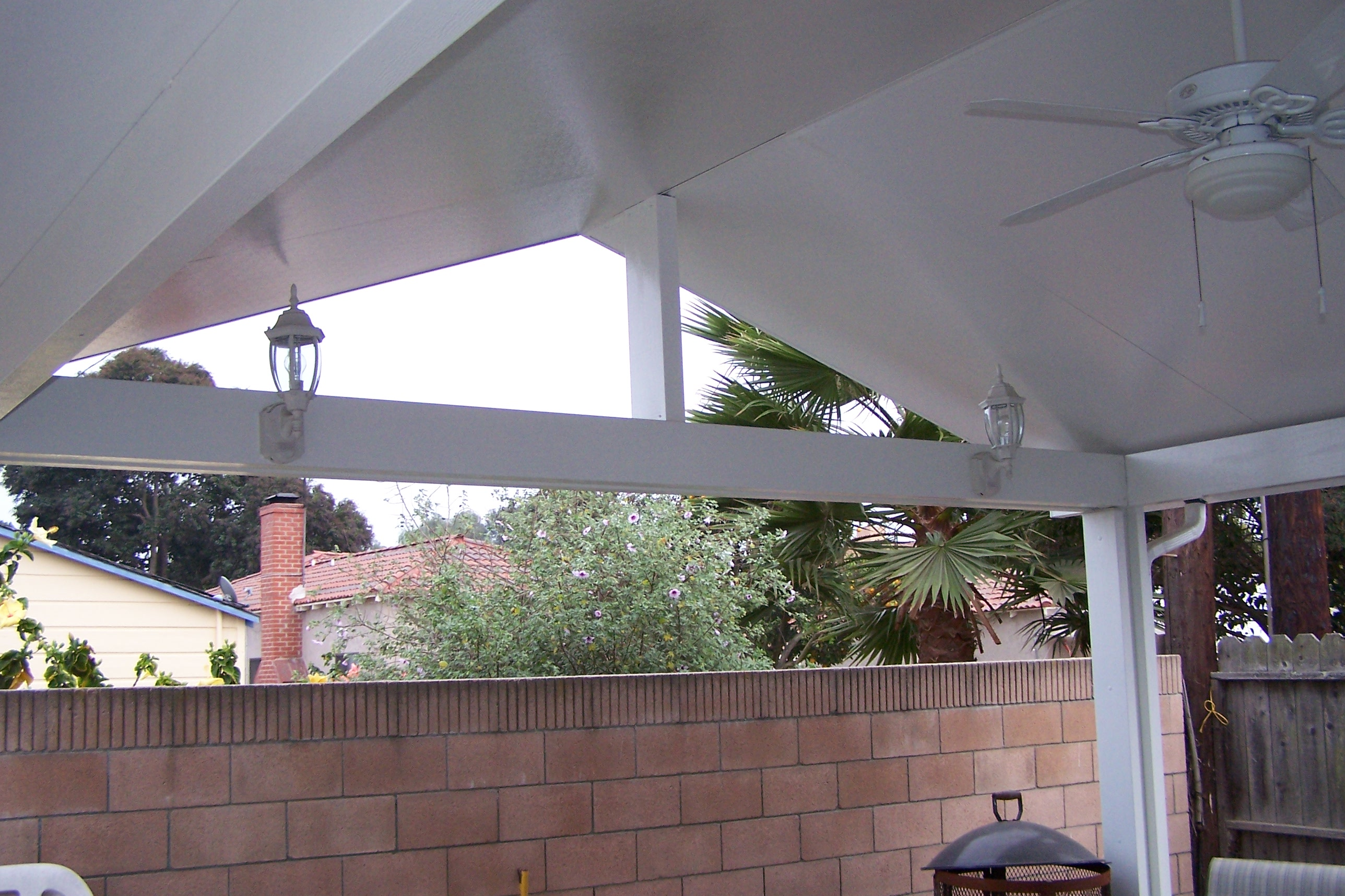 Gabled cathedral patio covers ocean pacific patios for Build a freestanding patio cover