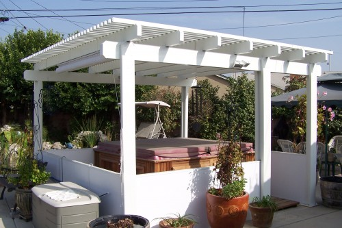 Freestanding patio covers ocean pacific patios for Free standing patio cover designs